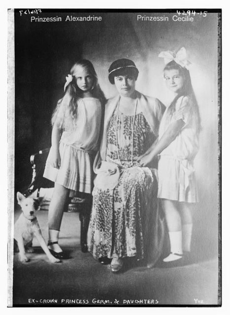 Ex-Crown princess Germ., & daughters, Prinzessin Alexandrine [and] Prinzessin Cecile