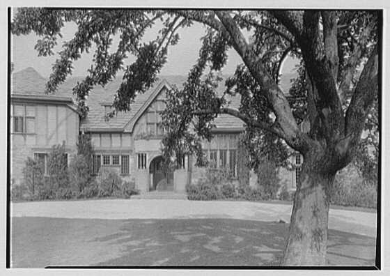 Henry Siegbert, residence. Front view through apple tree