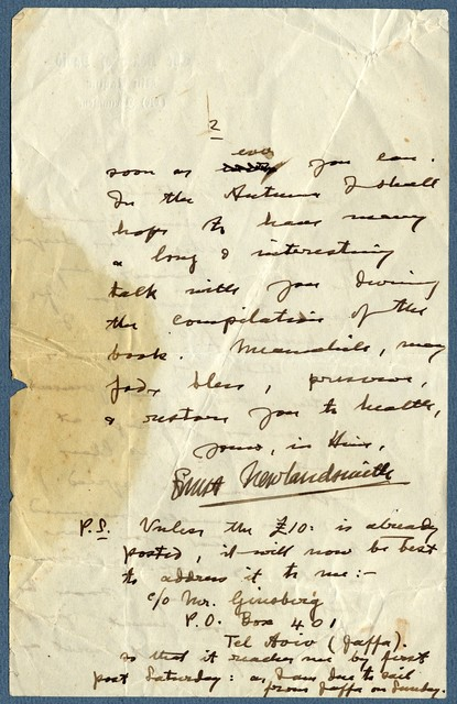 Letter from Ernest Newlandsmith to Ragheb Moftah, June 5, 1927