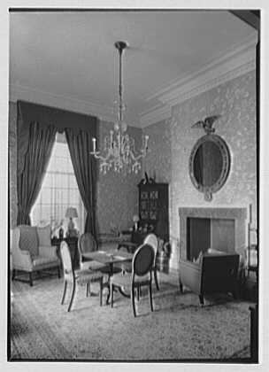 Marshall Field, residence in Huntington, Long Island, New York. Card room, vertical