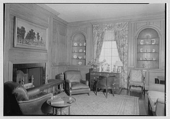 Marshall Field, residence in Huntington, Long Island, New York. Gun room, toward window