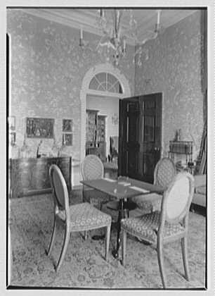 Marshall Field, residence in Huntington, Long Island, New York. Vista, card room to hall