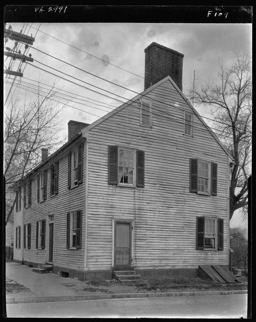 Miss Eliza Roy's House, general exterior, Main and Pitt Street, Fredericksburg, Virginia