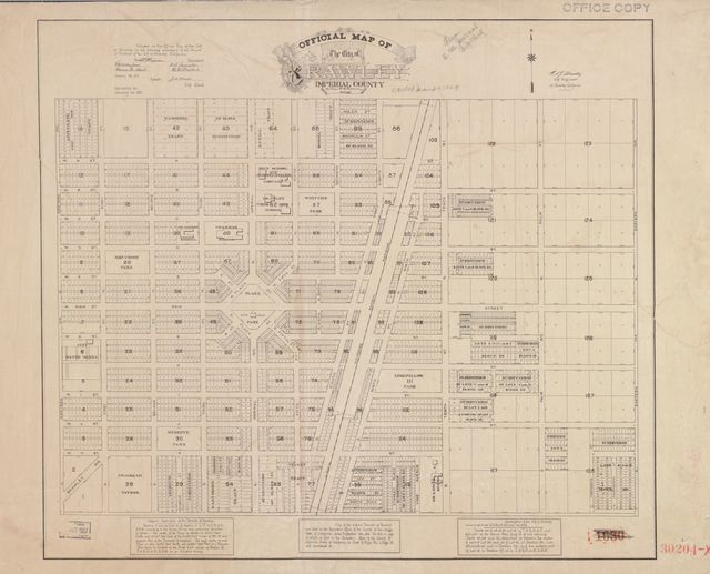 Official map of the City of Brawley, Imperial County, California /