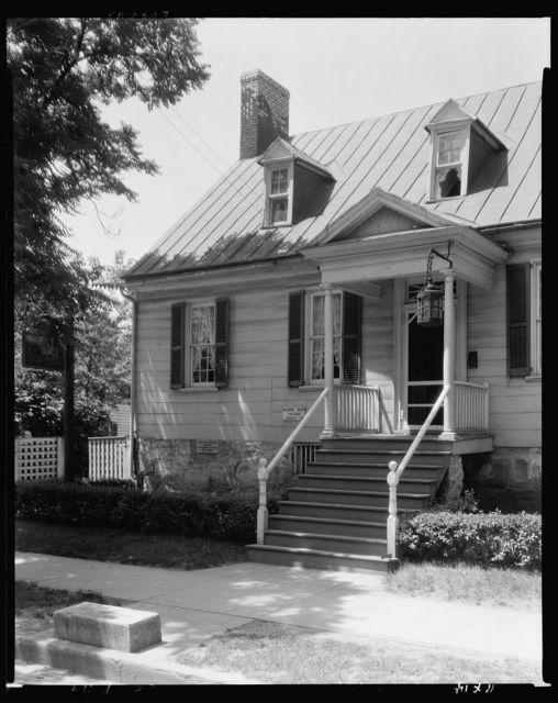 Rising Sun Tavern, entrance porch, Fredericksburg, Virginia