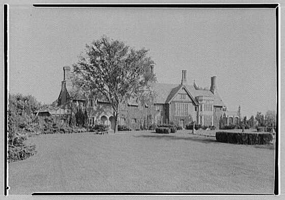 Robert Law, Jr., residence in Portchester, New York. General view from northwest