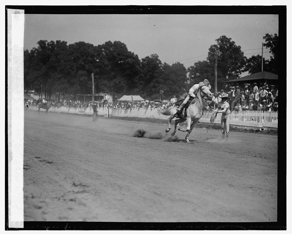 Rodeo stunts, Rockville Fair, [8/27/25]