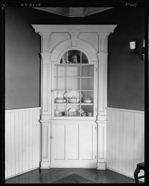 Sentry Box, corner cupboard, Fredericksburg, Virginia
