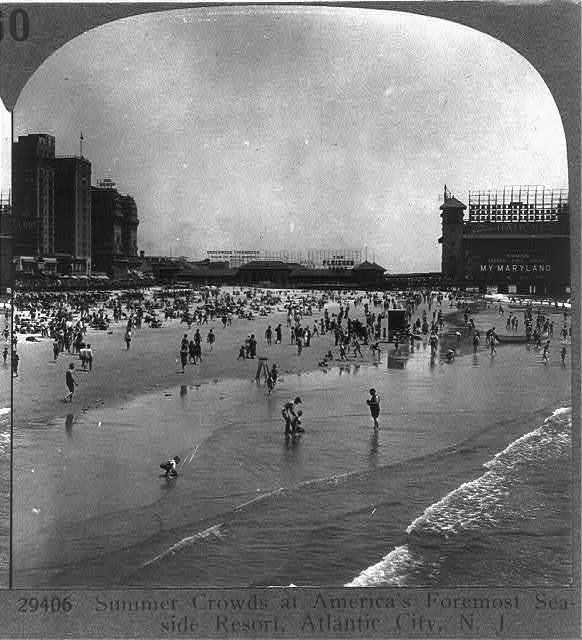 Summer crowds at America's foremost seaside resort, Atlantic City, N.J.