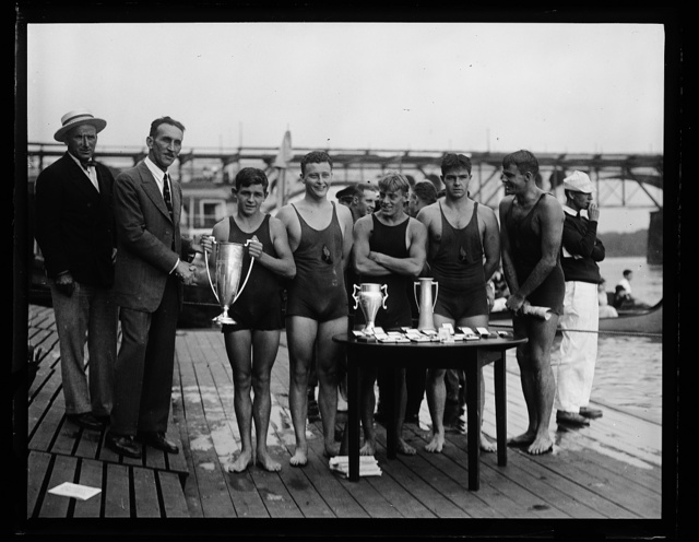 [Swimmers with award cups. Washington, D.C.]