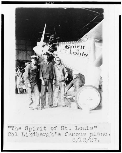 """The """"Spirit of St. Louis"""", Col. Lindbergh's famous plane"""