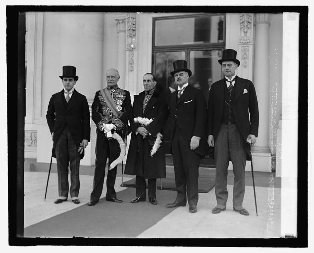 [Thos Stone, Sir Esme Howard, Vincent Massey, J. Butler Knight, M. Mahoney, 2/18/27]