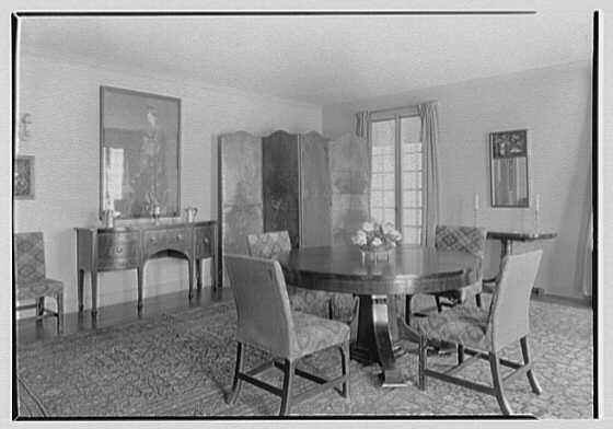 William Preston, residence in Jericho, Long Island. General, dining room