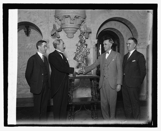 Porter Adams, Baron deCartier, Ward T. Van Arman, Walter W. Morton, 3/26/27