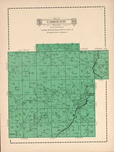 Atlas and farmers' directory of Fillmore County, Minnesota : containing plats of all townships with owners' names, also an outline map of the county, compiled from latest data on record.