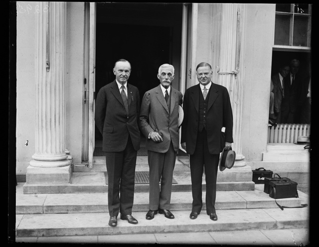 [Calvin Coolidge, Andrew Mellon and Herbert Hoover. White House, Washington, D.C.]
