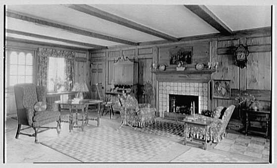 Dr. Dudley H. Morris, residence in Fieldston, New York. General view of living room