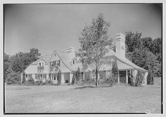 Elisha Dyer, residence in Brookville, Long Island. General exterior from right