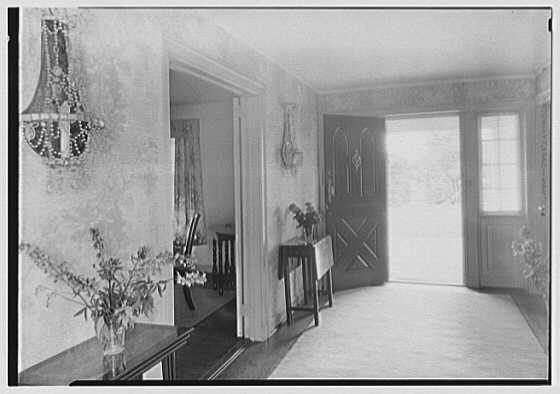 Elisha Dyer, residence in Brookville, Long Island. Hall toward entrance door