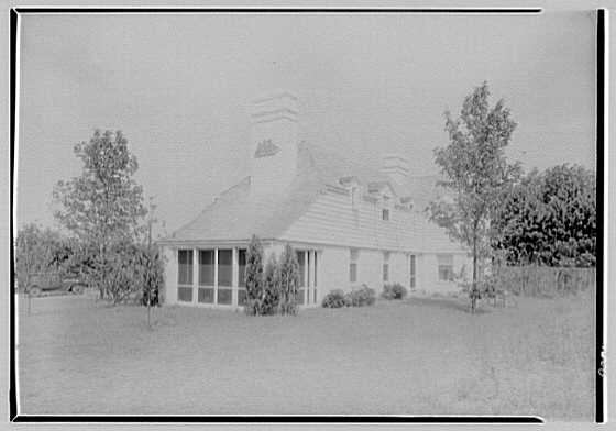 Elisha Dyer, residence in Brookville, Long Island. Rear exterior from left