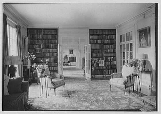 George R. Dyer, residence in Brookville, Long Island. North end of living room