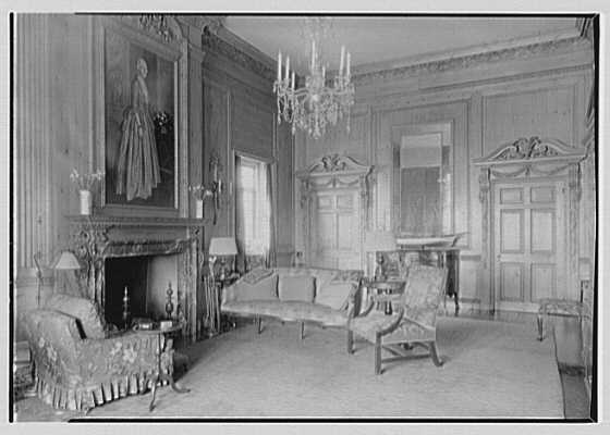 J.A. Reynolds, residence at 33 Beekman Place, New York, New York. General view, living room