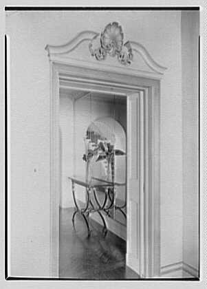 J.A. Reynolds, residence at 33 Beekman Place, New York, New York. Vista through dining room door
