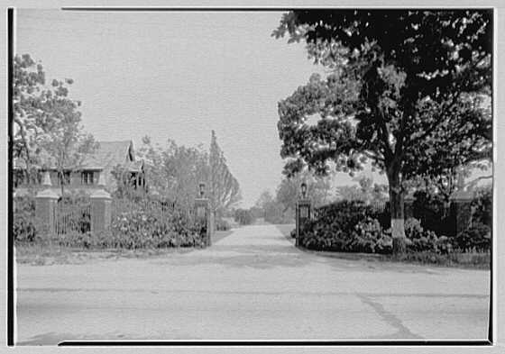 L.K. Thorne, residence in Bayshore, Long Island. Entrance