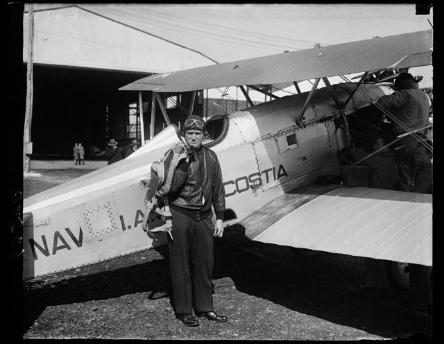 Lt. Al Williams, USN at his plane