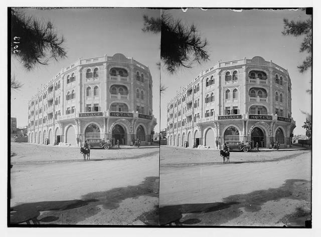 Newer Jerusalem and suburbs. Moslem Aukaf bld'g [i.e., Muslim Aukaf building], Mamillah Road