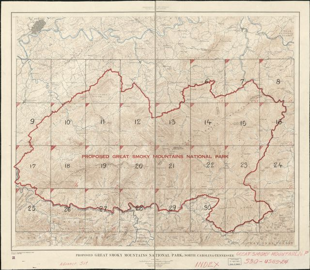 Proposed Great Smoky Mountains National Park /