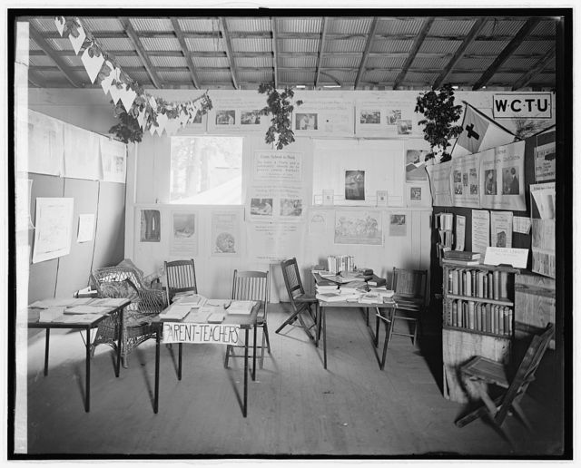 Rockville Fair, [Maryland], 1928, educational exhibits