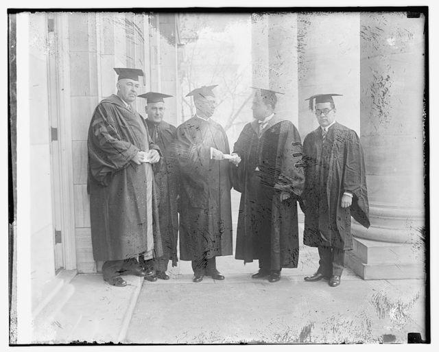 Rubio receiving degree at G.W.U.