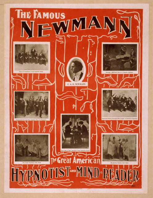 The famous Newmann the great American hypnotist and mind-reader.
