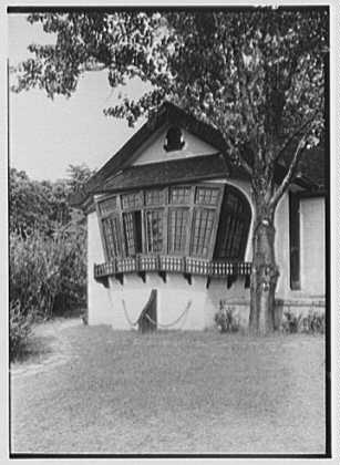 Walter Seligman, residence in Sands Point, Long Island, New York. Ship exterior