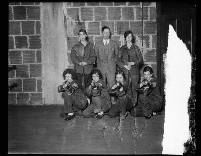 [Women in marksmanship class?]
