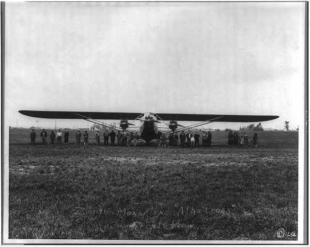 """Zenith monoplane """"Albatross,"""" front view"""