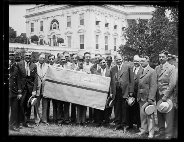 60,000 school children from Cleveland invite Hoover to Air Rods [White House, Washington, D.C.]