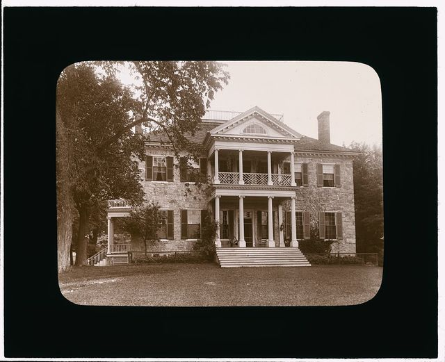 [Annefield, Berryville vicinity, Clarke County, Virginia. Double porch façade]