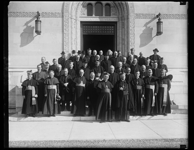 Annual meeting of Catholic Bishops at C.U. [i.e., Catholic University]