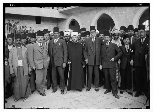 Arab protest delegations, demonstrations and strikes against British policy in Palestine (subsequent to the foregoing disturbances [1929 riots]). An Arab delegation to London. The protest delegation of December 1929