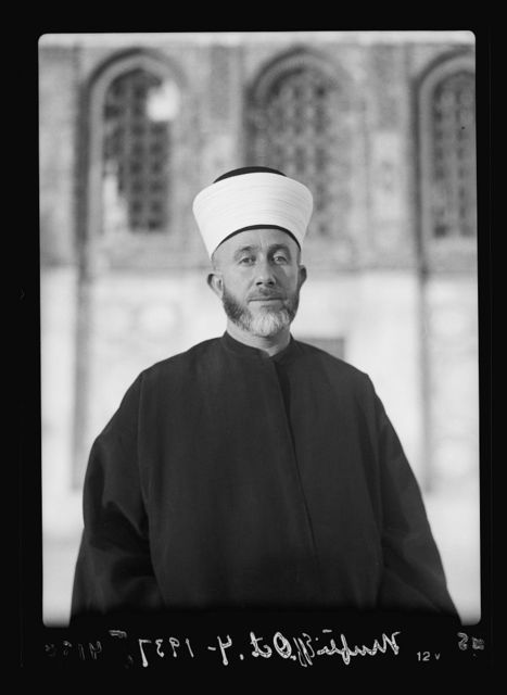 Arab protest delegations, demonstrations and strikes against British policy in Palestine (subsequent to the foregoing disturbances [1929 riots]). His Eminence the Grand Mufti of Jerusalem. Haj Amin Effendi el-Husseini