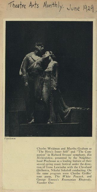 "Charles Weidman and Martha Graham as ""The Hero's Inner Self"" …"