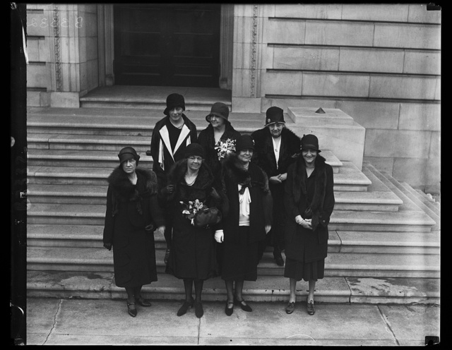 Congressman on Job for [...] Special Session of Congress, Members of the weaker sex were strongly represented when the special session of Congress opened at the Capitol today. Seven of the eight Congresswomen are shown in this picture made today with only Rep. Katherine Langley, of Kentucky, missing. In the front row, left to right: Rep. Pearl P. Oldfield, Arkansas; Rep. Mary T. Morton, New Jersey; Rep. Ruth Baker Pratt, New York; Back row, left to right: Rep. Ruth Bryan Owen, Florida; Rep. Edith Nourse Rogers, Massachusetts; and Rep. Florence Kahn, California
