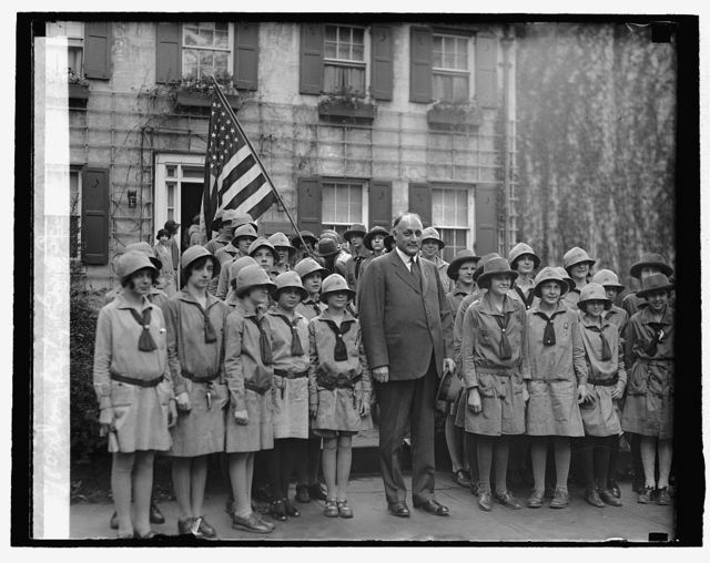 Dougherty & Girl Scouts, [4/26/29]