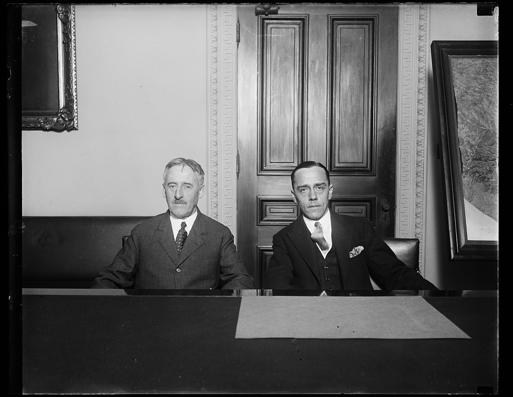 [Henry Stimson and] H. Loew, new Minister from South Africa