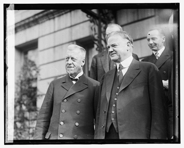 Hoover with Capt. Eichner, Hugo Eckner