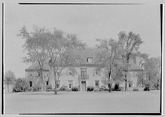 J.J. Bodell, residence at 61 Intervale Rd., Providence, Rhode Island. Axis view of west facade