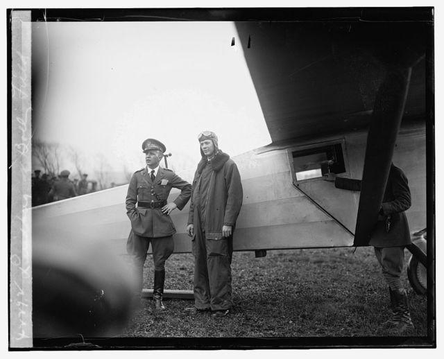 Lindberg at Bolly [i.e., Bolling] Field