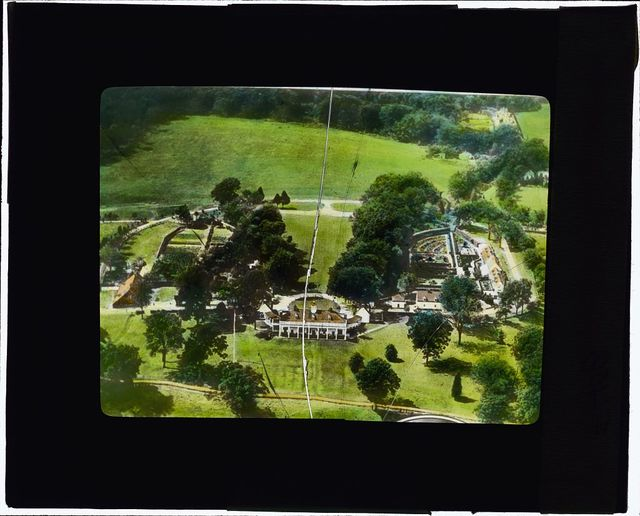 "[""Mount Vernon,"" George Washington house, Mount Vernon Highway, Mount Vernon, Virginia. Aerial]"